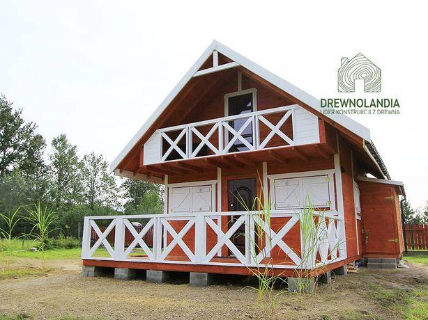 Duży domek altana z drewna świerkowego polski producent