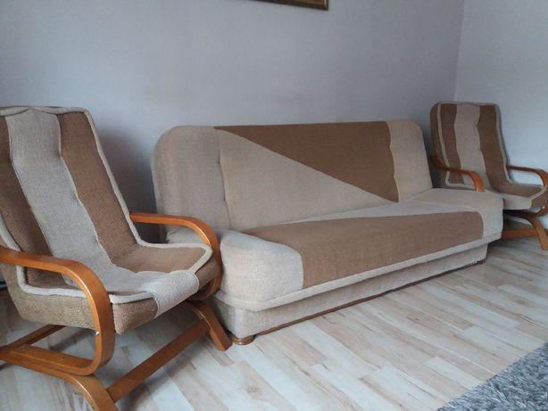 Zestaw wypoczynkowy kanapa i 2 fotele