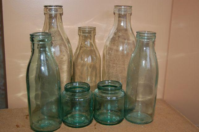 молочные бутылочки 1л, 0,5л, баночки 0,25л выпуска годов 70-х, 80-х.