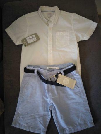 Conjunto calções e camisa 5 anos NOVOS, COM ETIQUETA