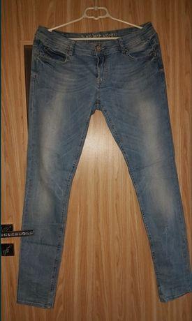Spodnie jeansy rurki XXL