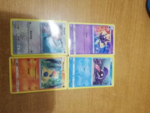 4 karty z Pokemon Go.