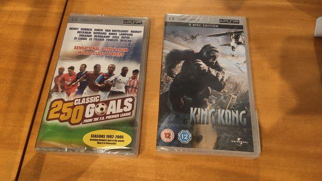 filmes PSP King Kong e Classic Goals selado/novo