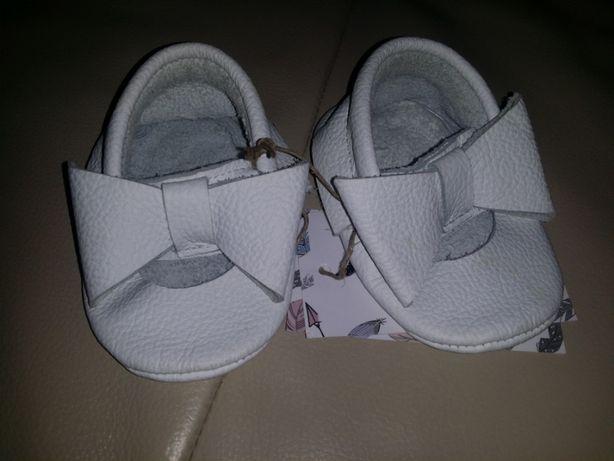 Śliczne buciki SziSzi skórzane NOWE!!! Chrzest, wesele, eleganckie