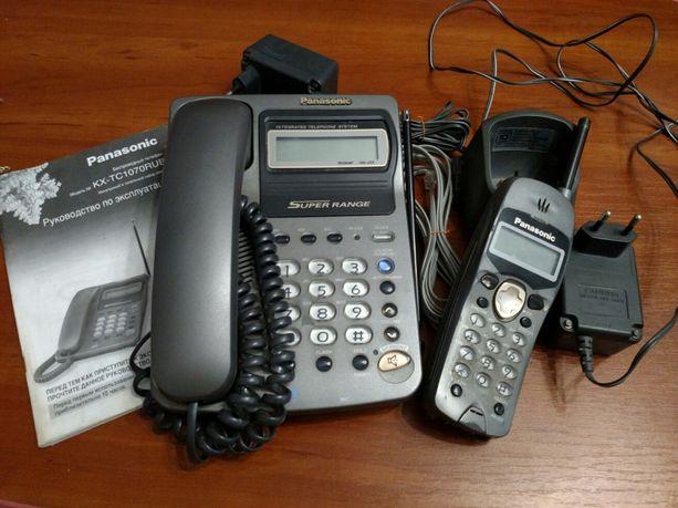 Panasonic KX-TC1070RUB телефон + трубка