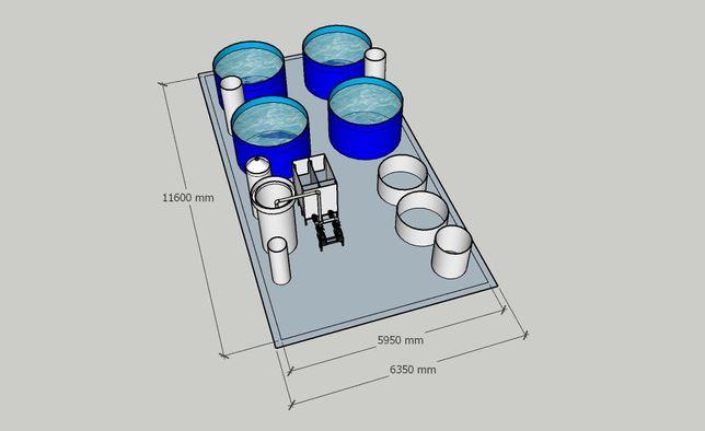 УЗВ, выращивание рыбы, установка замкнутого водоснабжения (за 10 дней