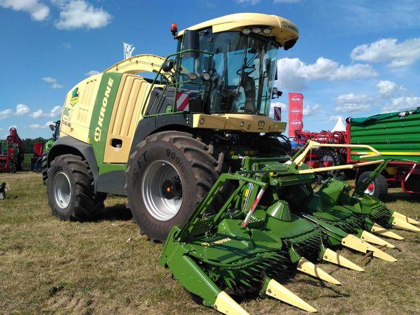 Zbiór koszenie kukurydzy na kiszonkę nową sieczkarnią Krone Big X 700