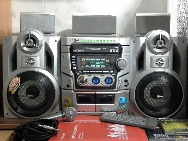 Музыкальный центр LG LM-K5530X /DVD/Караоке /ВХОД AUX. пульт ДУ, диск