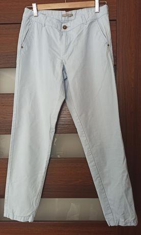 Spodnie bawełniane błękitne Orsay, rozm. 34