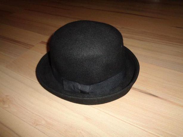 M&S Marks & Spencer modny czarny elegancki kapelusz jak nowy WOOL S/M