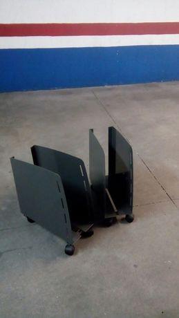 2 suportes torre pc com rodas