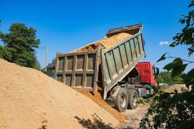 Piasek 22zł kopany budowlany transport usługi koparka ładowarka wykopy