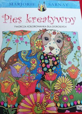 Pies kreatywny. Kolorowanka dla młodzieży i dorosłych.