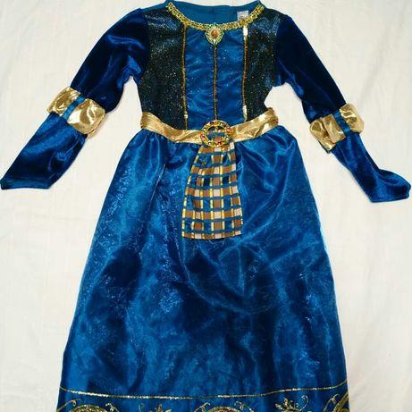 Платье принцессы Мериды на 5-6лет
