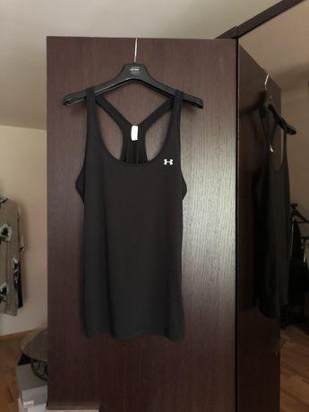 Czarna koszulka na ramiączkach, bokserka, top, Under Armour, rozmiar M