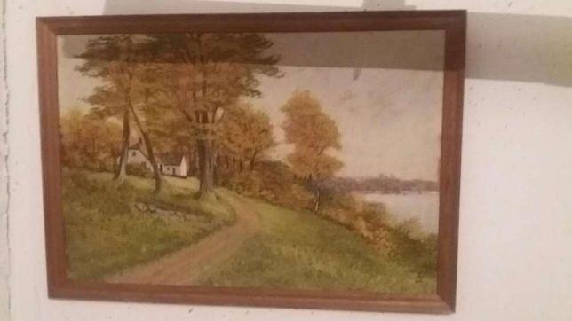 Obraz olejny pejzaż jesień