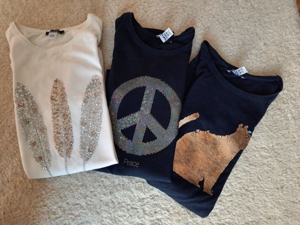 3 koszulki Okiadi 146 (z metki 152) jak nowe