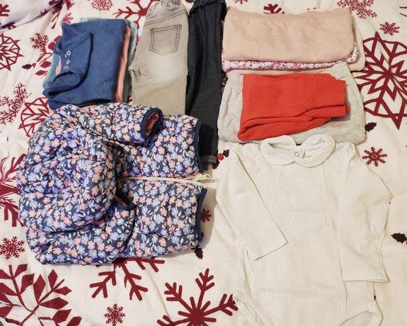 Paka dla dziewczynki, 74, kurtka przejściowa, spodnie