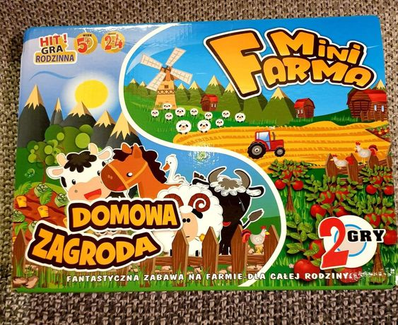 Gra planszowa 2w1 Mini farma + Domowa zagroda