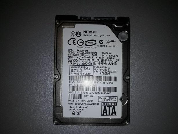 "Dysk do laptopa SATA 2,5"" 80GB HITACHI HTS722080K9A300 dawca"