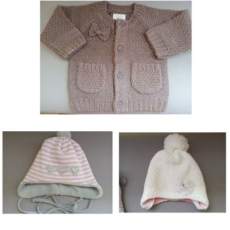 Sweterek r. 62 nowy czapki gratis