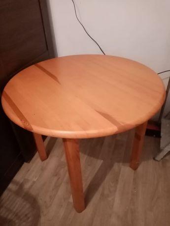 Stół drewniany, sosnowy, sosna, okrągły blat