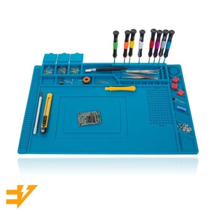 Base tapete mesa silicone borracha lixar soldar / estanhar (450x300mm)