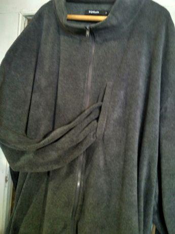 Куртка муж.супербольшой размер 8ХL. Трикотаж на флисе.