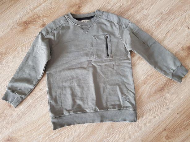 Zara bluza bluzka chłopięca militarna khaki 122