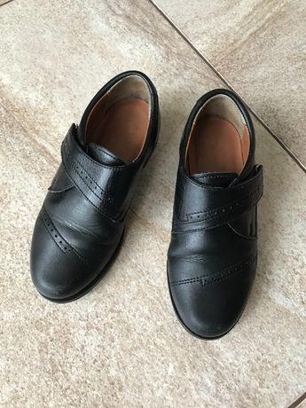 Черные кожаные туфли ТМ Каприз в школу для мальчика, р. 28