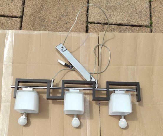 Lampa sufitowa ,wisząca + 3 żarówki