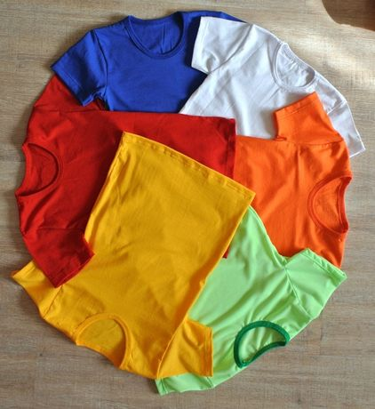 Однотонная футболка и шорты Спортивная форма для детей