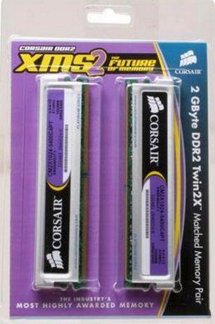 CORSAIR XMS2 2GB (2 x 1GB) 240-Pin DDR2 SDRAM (PC2 5400) Dual Channel