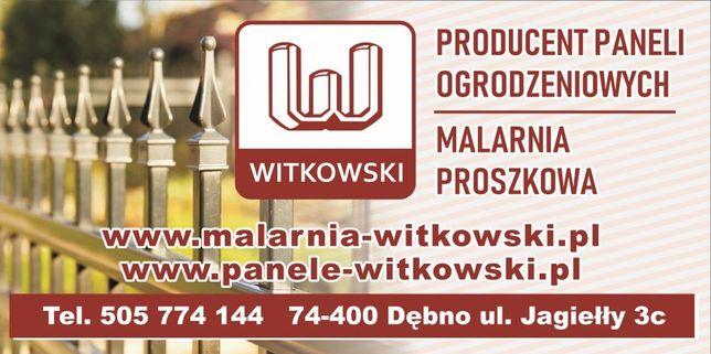 Witkowski Panele Ogrodzeniowe-Malowanie proszkowe