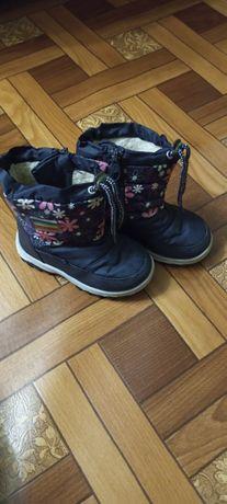 Зимові чобітки дутики для дівчинки