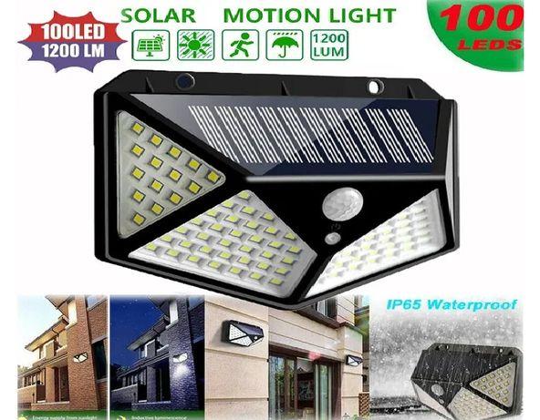 Lampa Solar/Solarna 100 LED Czujnik Ruchu/Zmierzchu