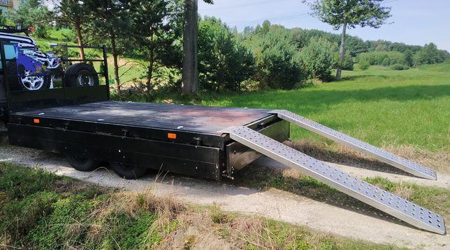 Przyczepa Ciężarowa Happert Platforma Plandeka Najazdy Alu