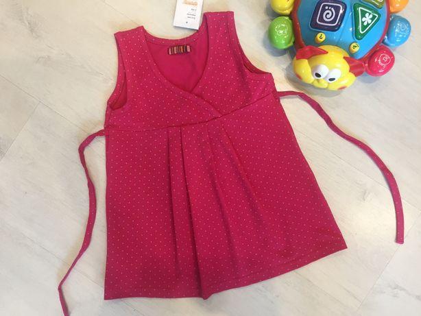 Новая туника платье блуза футболка на 1,5-2-3-4 г., 18-24 мес. бирка