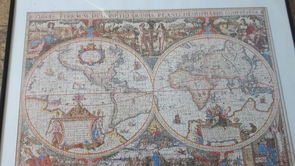 Puzzle globus stylizowany Juchnowiec Dolny - image 1