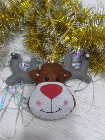Новогодние игрушки из фетра ручной работы,о в наличии и под заказ