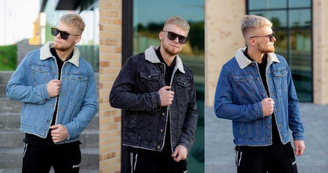 Джинсовая куртка на меху овчине Мужская джинсовка Шерпа ТЁПЛЫЕ РУКАВА!