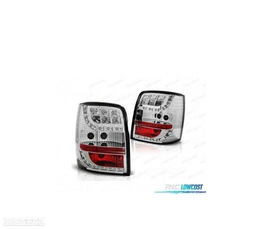 FAROLINS TRASEIROS LED VW PASSAT 3GB B5 VARIANT 00-05 CROMADOS