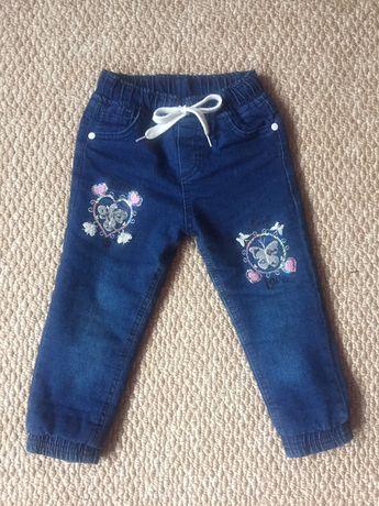 Утепленные джинсы, штаны
