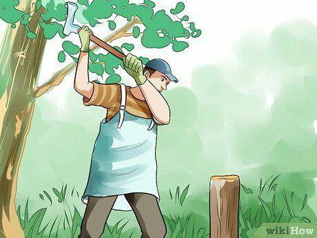 Колка,рубка дров.Спил деревьев.