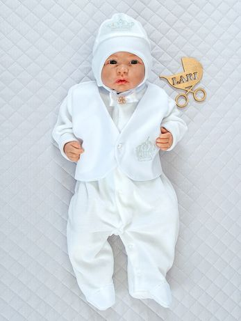Комплект на выписку или крещения + ПОДАРОК для мальчика 0-3 месяца