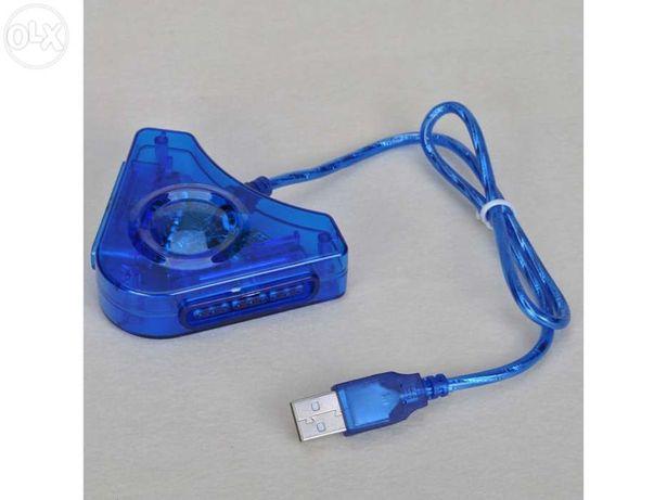 Adaptador de comandos USB PS2 PS1 para pc NOVO