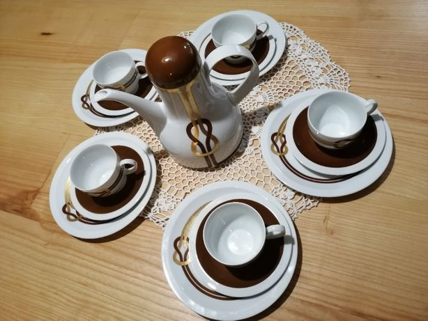 Zestaw kawowy retro, design Furstenberg Bavaria.