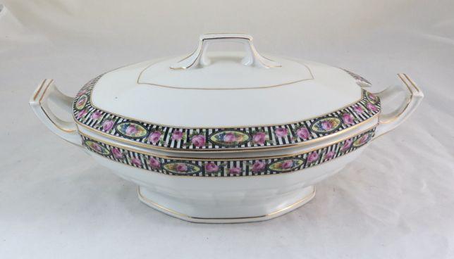 1Terrina Sopa Porcelana Electro Cerâmica; Circa Art Deco marcada