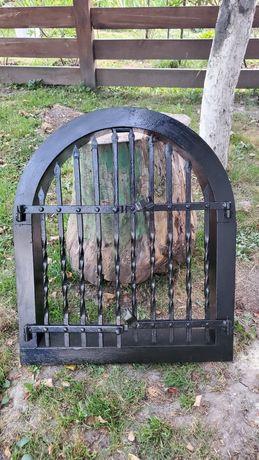 Двері, решітка для каміна, мангала, металеві, ковані