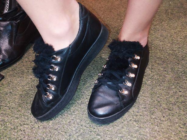 Кожаные ботинки Стептер на шнуровке, 26см по стельке